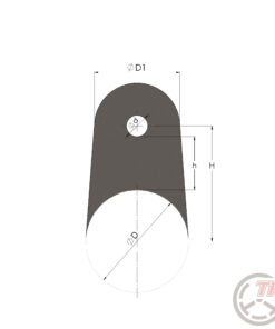 mocowanie ucho klatka rura